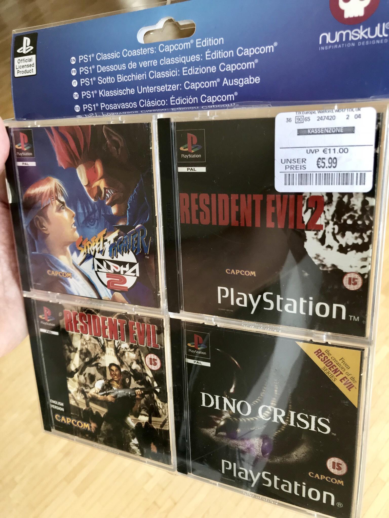 Playstation 1 hochwertige 1:1 Miniaturhüllen als Untersetzer (auch im SNES und NES Design) - Lokal TKMaxx Siegen und alternativ online
