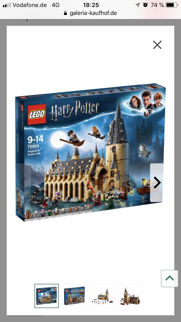 Galeria Kaufhof- Lego Die große Halle von Hogwarts™ 75954 für 84,99