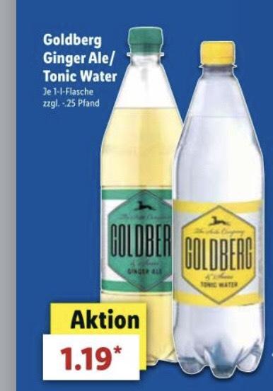 (LIDL) Goldberg Tonic Water und Ginger Ale 1l für 1,19