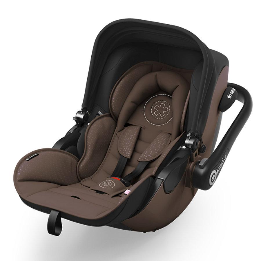 Kiddy Evoluna i-Size Babyschale/Kindersitz (braun) inkl. Isofix Base 2