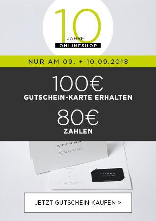 Eterna: Gutscheinkartenkauf – 100 Euro für 80 Euro (+ 0,95 Versand) – bis zu 3x
