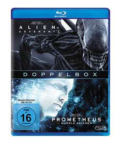 Alien: Covenant + Prometheus - Dunkle Zeichen (2-Film Set Blu-ray) für 10,08€ (Amazon)