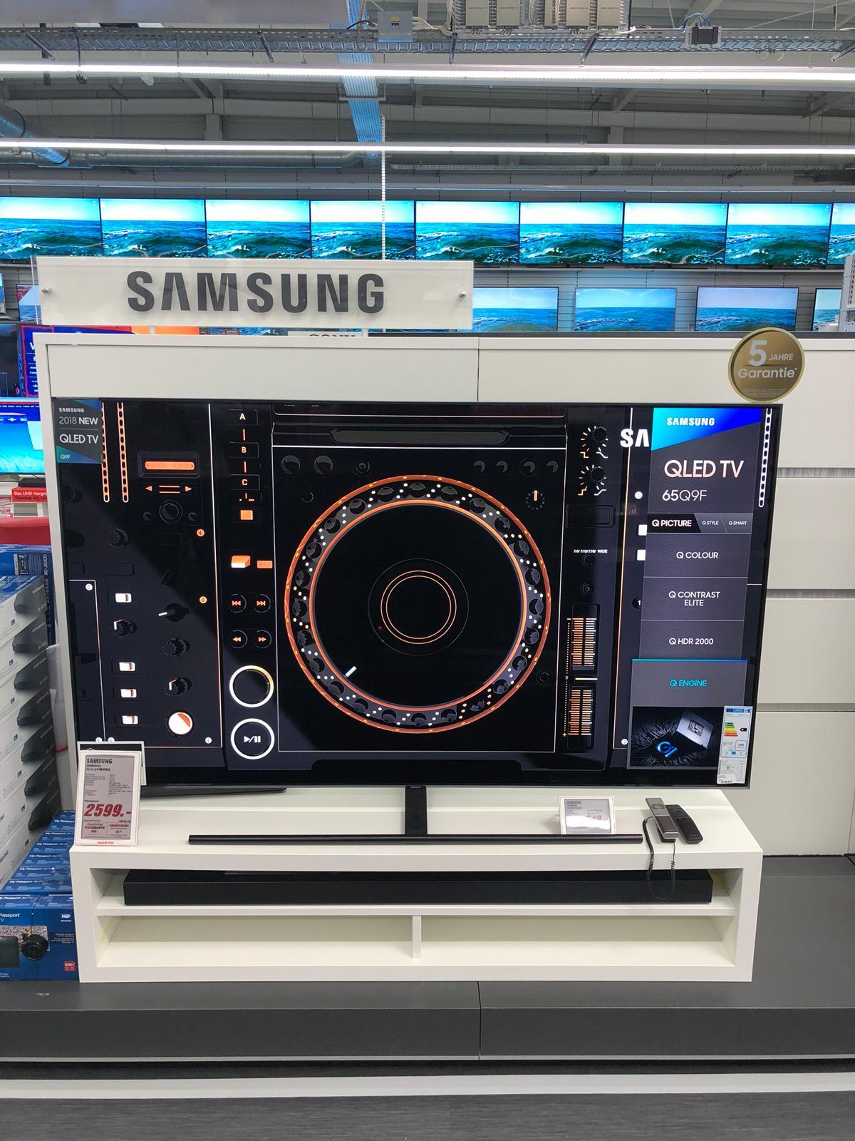 *LOKAL!!!! im Media Markt Wiesbaden-Hasengartenstr.* den Samsung GQ65Q9FN QLED TV mit 5 J. Garantie