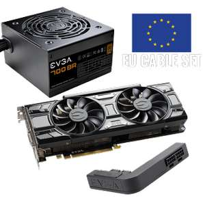 EVGA GeForce GTX 1070 SC GAMING + EVGA 700 BR Power Supply (EU Cable) + EVGA PowerLink
