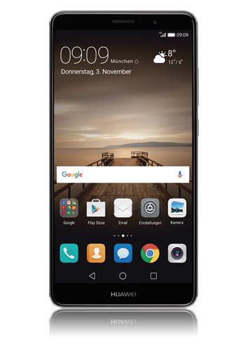 [Modeo] Huawei Mate 9 (14,9 cm (5,9 Zoll), 64GB, 12 Megapixel Kamera, Android 8.0) Grau