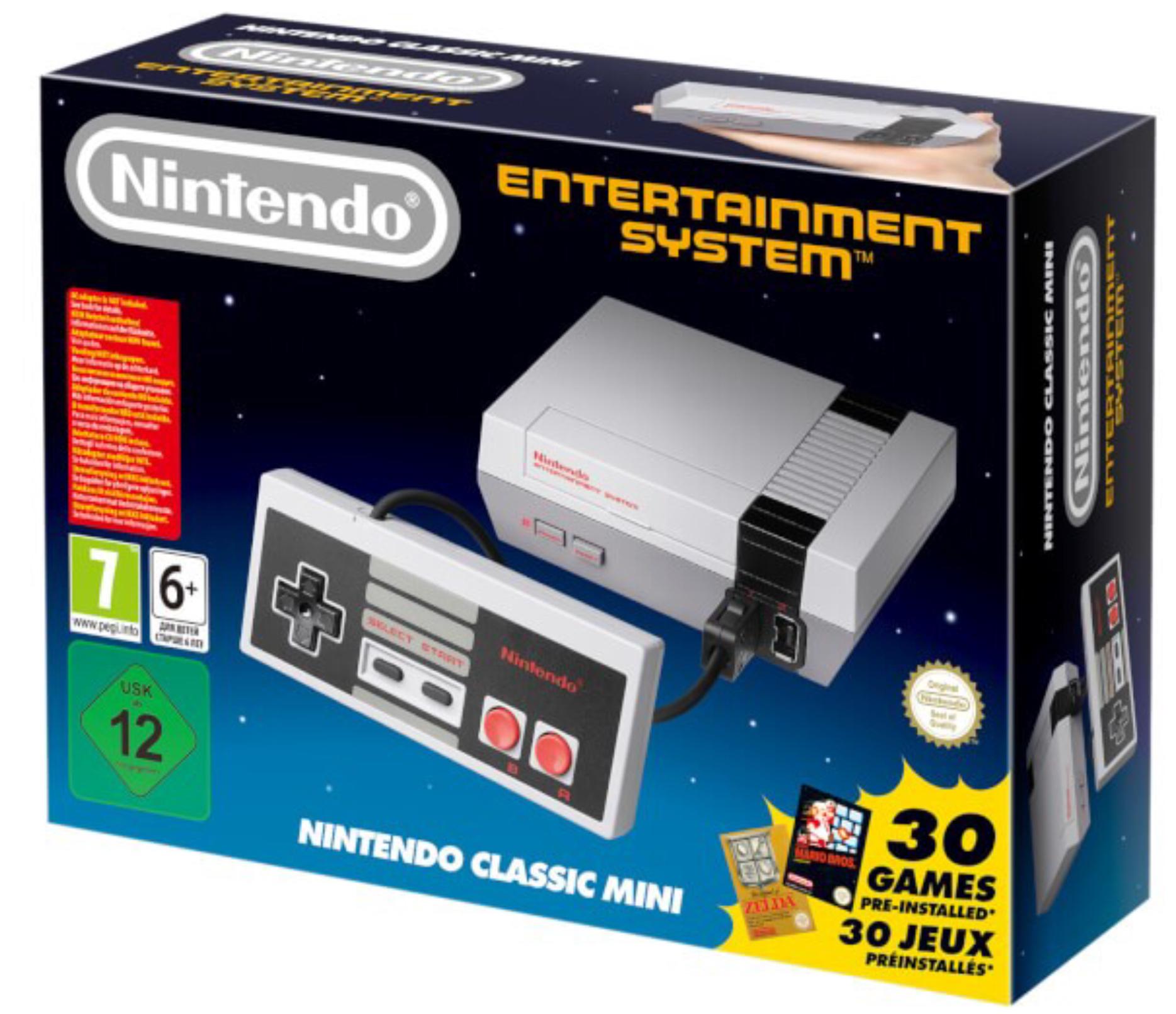 [Rakuten] Nintendo NES Classic Mini inkl. 30 installierte Spiele für 37,90€ mit MasterPass