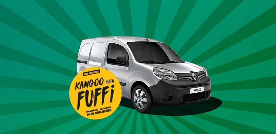 Renault Kangoo Rapid (75 PS) - 59,50€ / Monat (brutto), LF 0,34, 24 Monate, 10k km p.a. im Gewerbeleasing