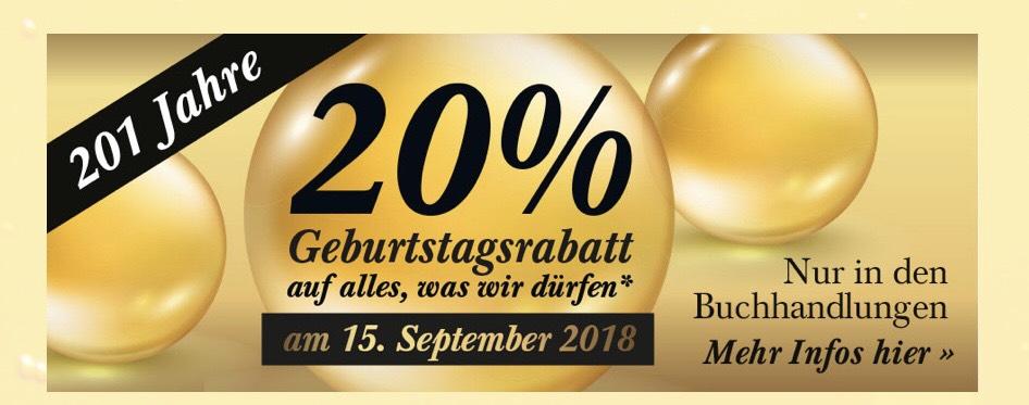 (Lokal NRW und Trier, nur am 15.09.) 20% auf alles* in allen Mayerschen Buchhandlungen (*außer Bücher durch Buchpreisbindung)