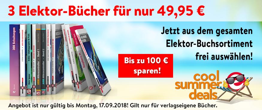 3 Elektor-Bücher für 49,95 €