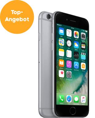 Iphone 6 32 gb spacegrau einmalig 1€ + Allnet Flat 3gb LTE für 16,99 €