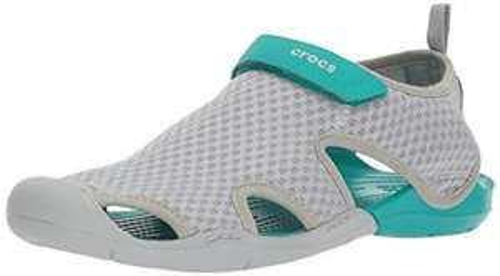 (Amazon Prime ) Gr.34-43  crocs Damen Swiftwater Mesh Sandals Women Geschlossene, Smoke