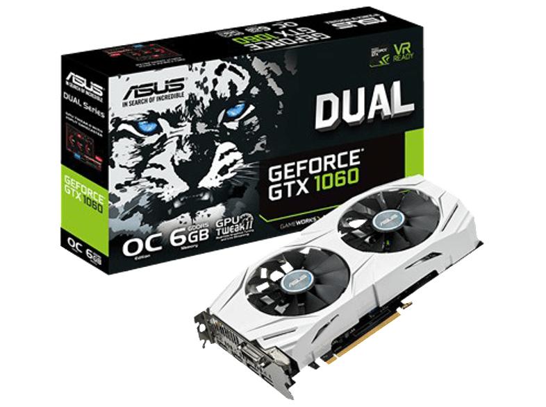 ASUS GeForce® GTX 1060 Dual OC 6GB Grafikkarte + 240GB SSD für 266€ [Mediamarkt]