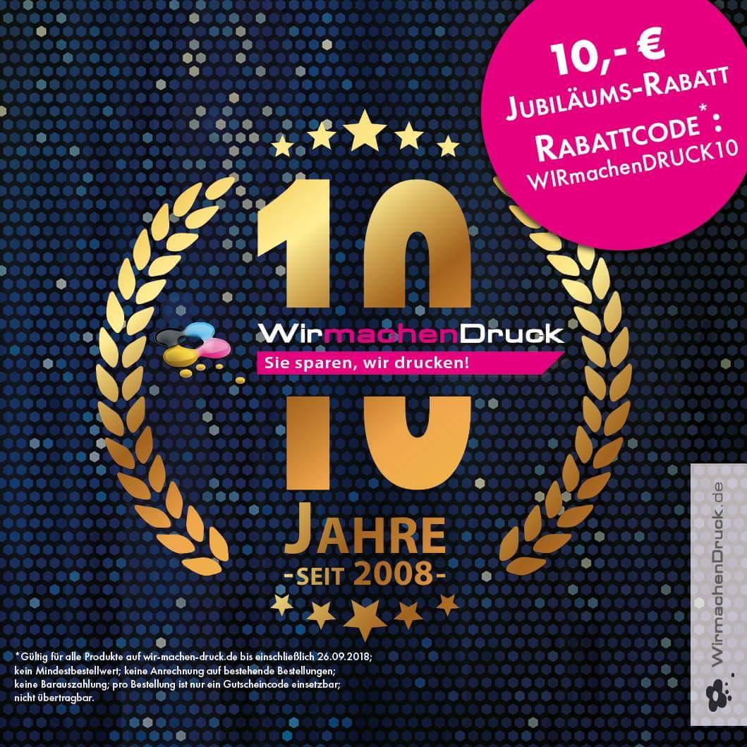 WIRmachenDRUCK 10€ Gutschein ohne MBW!