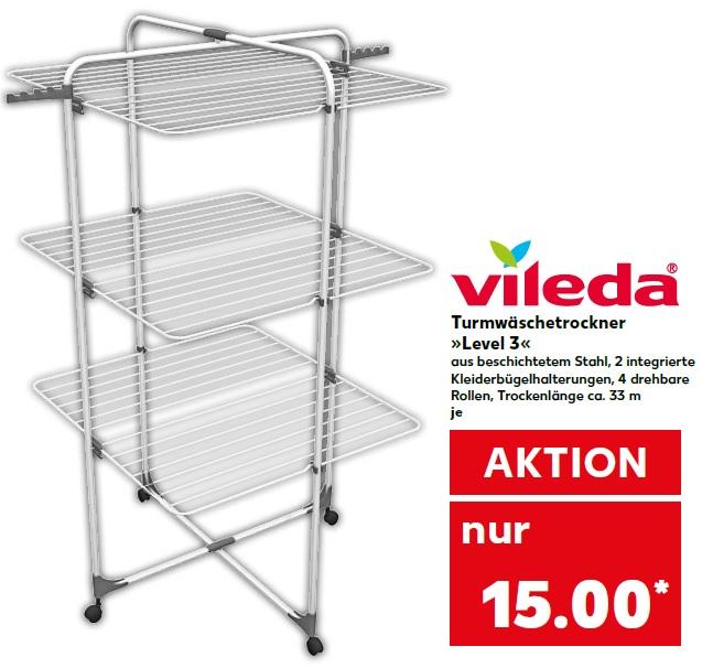 [Regional bei Kaufland in Pfungstadt] Vileda Level 3 Turmwäscheständer aus Stahl