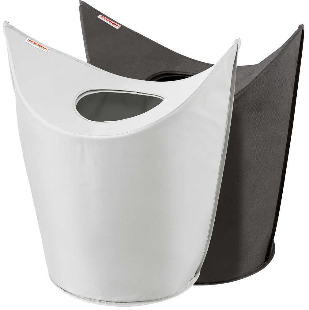 Leifheit Wäschesammler, Stoff, grau/schwarz, 36 x 70 x 76 cm / Hängeregal für Kleiderschrank für je 7 € @ Kaufland ab 20.09.