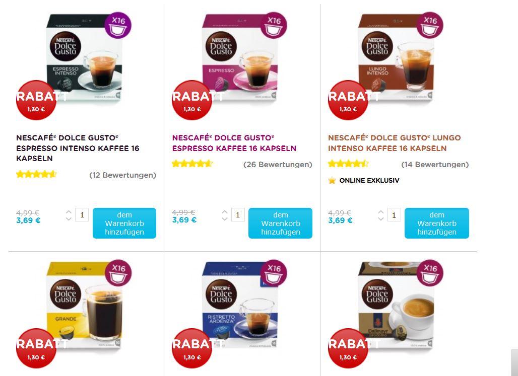 kapselflashsale nur Heute am 13.09. Dolce Gusto Online Shop 16er Packung für 3,69€ (alle schwarze Kaffeesorten)