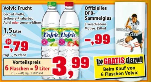 Volvic mit Geschmack (6er Pack 1,5l) für 3,99€ @ Thomas Phillips