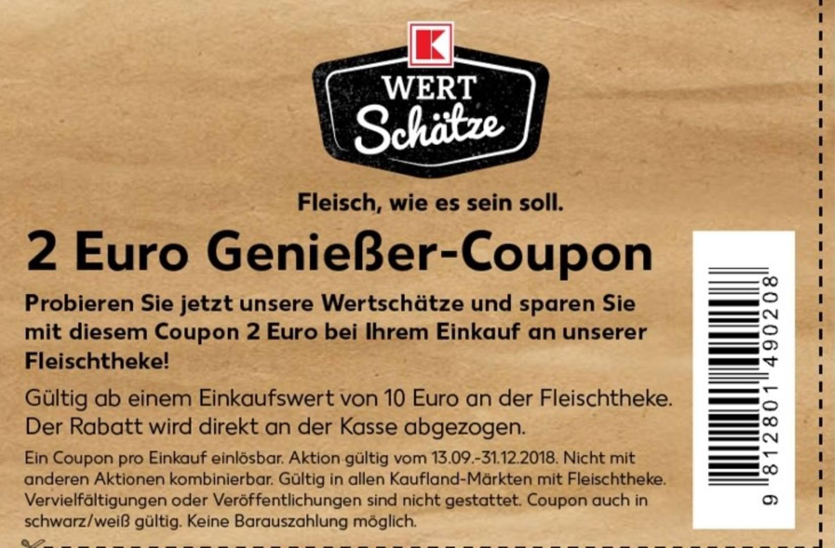 [Kaufland] 2,00€ Coupon ab 10,00€ Fleischtheke bis 31.12.2018