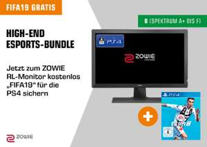 "BenQ Zowie RL2455 - 24"" Full-HD Gaming Monitor inkl. FIFA19 (PS4) für 169€ (Saturn)"