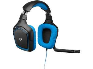 Logitech G430 Gaming Kopfhörer (Dolby 7.1 Surround Sound für PC) blau [Media Markt]