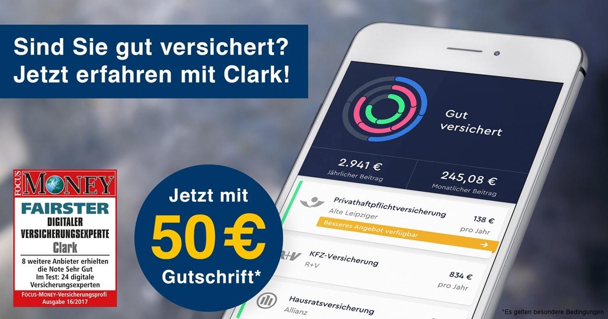 """1822direkt Kunden: 50€ für Registrierung bei """"Clark"""""""