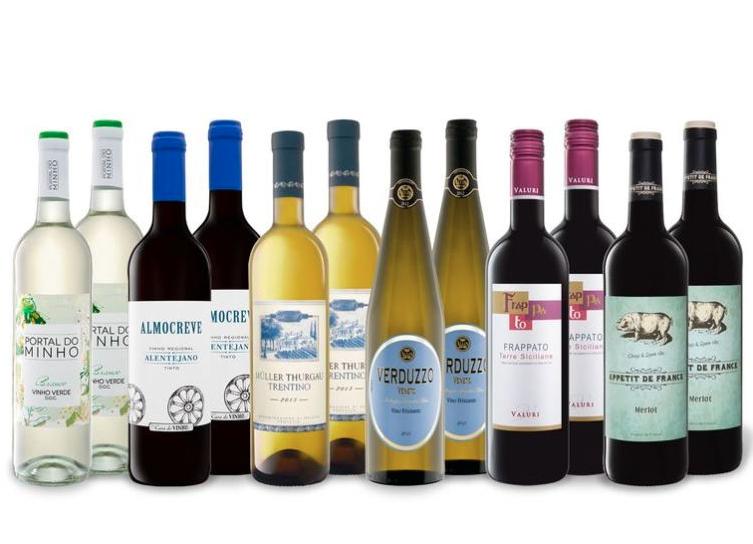 12 x 0,75-l-Flasche Weinpaketim LIDL Onlineshop