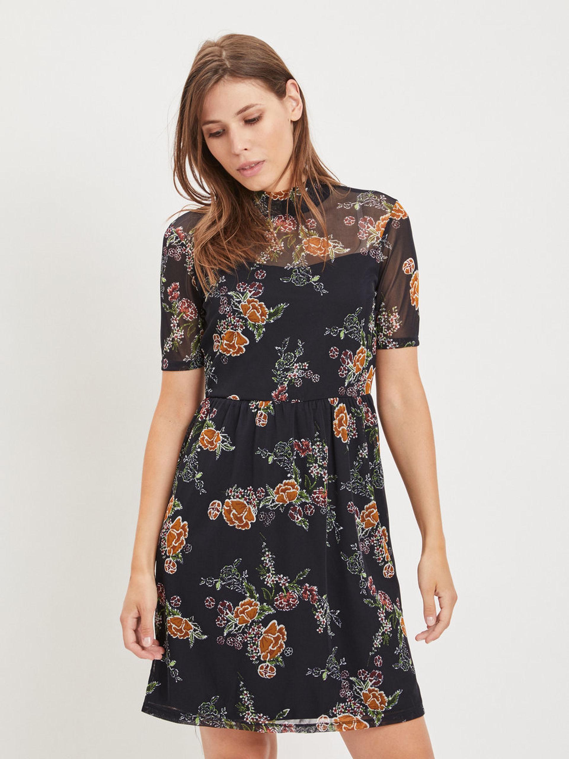 Nur noch heute 20% extra Rabatt auf Sale bei Vila, z.B. transparentes Blumenkleid