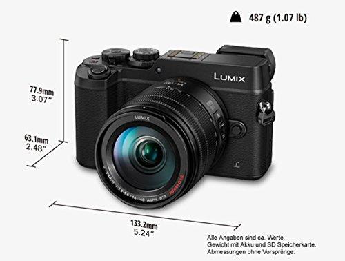 Panasonic LUMIX G DMC-GX8HEG-K Systemkamera (20 Megapixel, Dual I.S. Bildstabilisator, 4K Foto / Video, Staub-/Spritzwasserschutz) mit Objektiv H-FS14140E schwarz