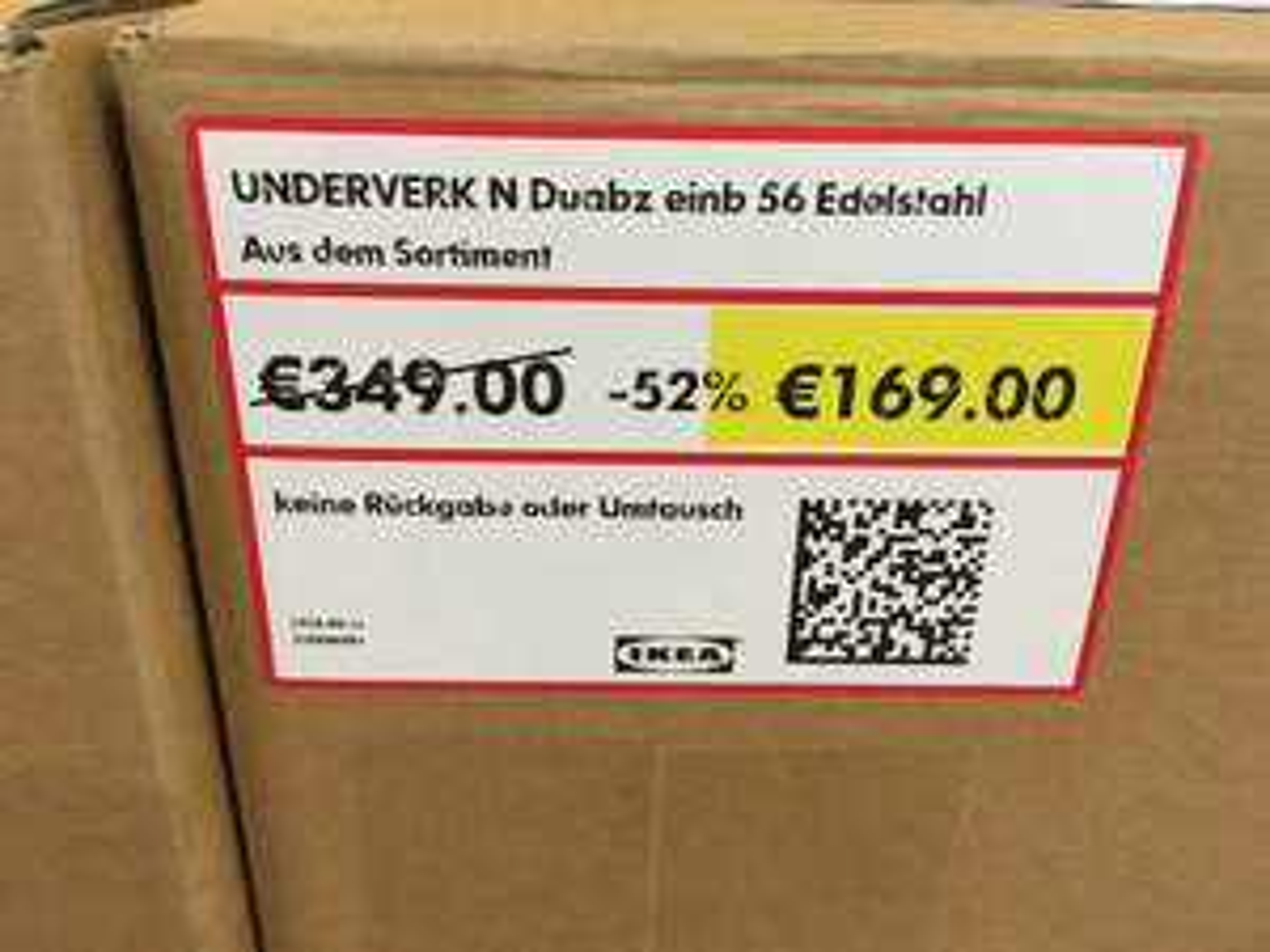 Lokal IKEA HH Moorfleet Underverk Dunstabzug Einbauhaube 56cm