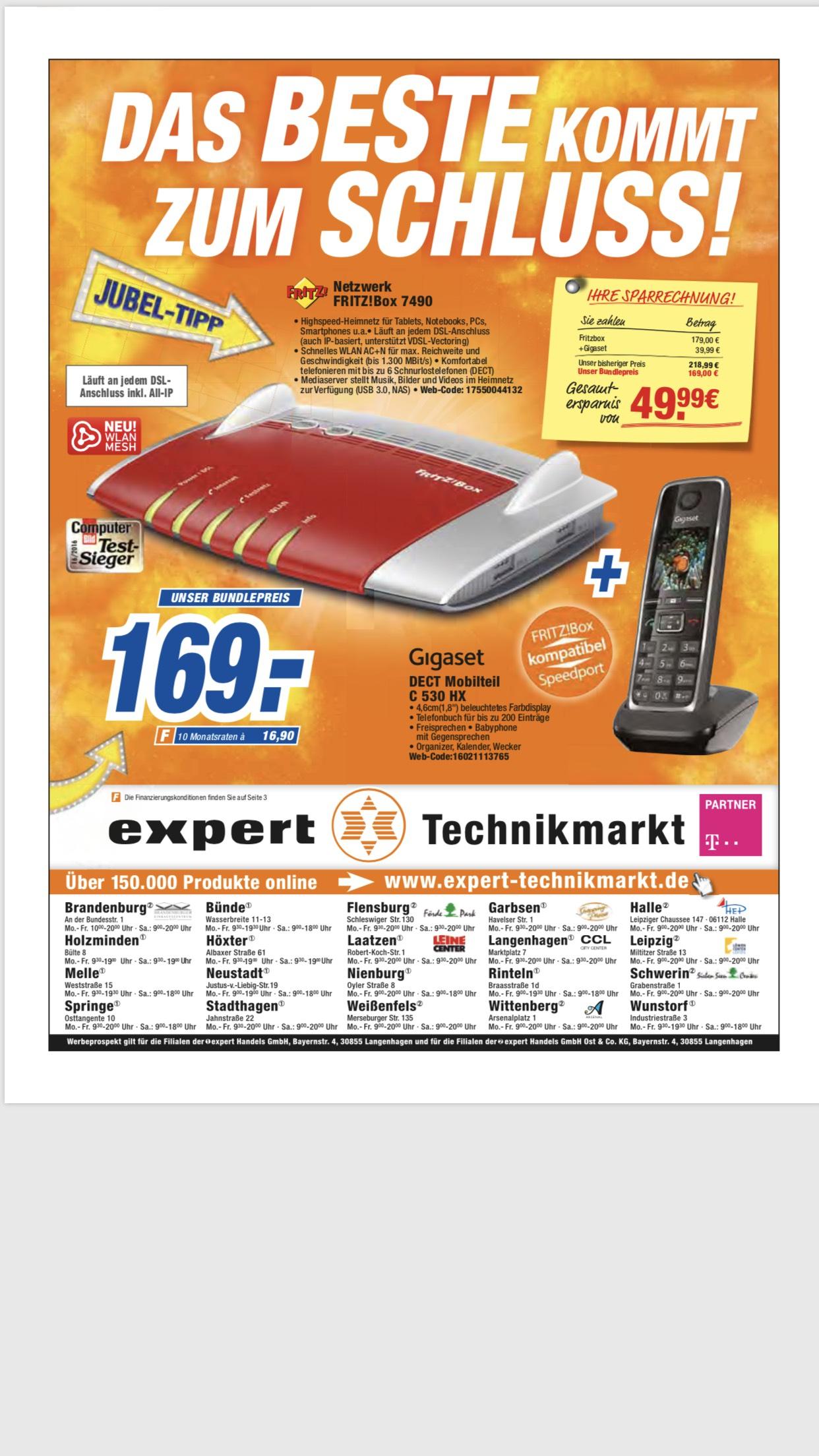 AVM FRITZ!Box 7490 + Gigaset C530HX für 169€ [Expert](Lokal?)