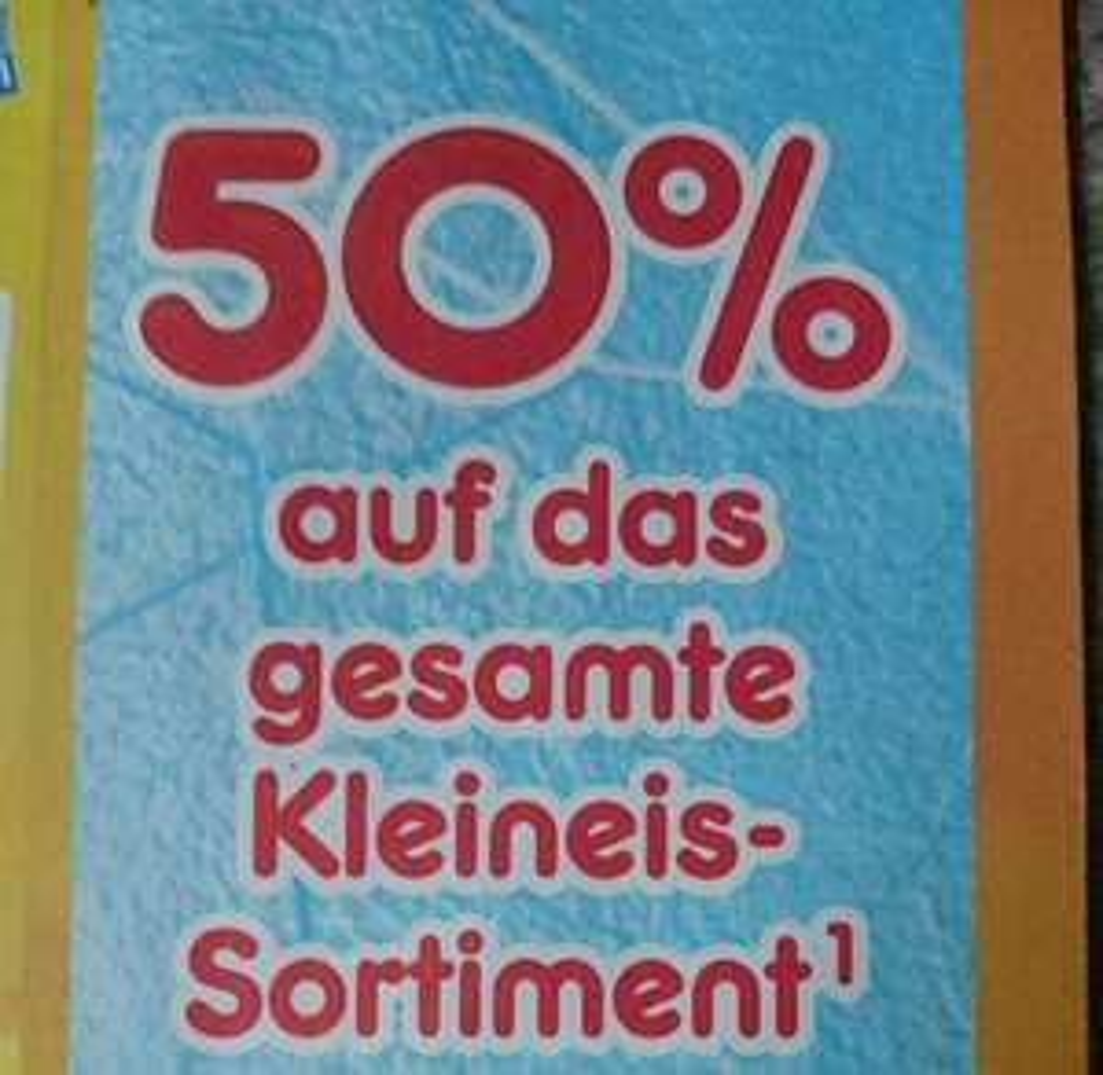 50% Rabatt auf das Kleineis Sortiment