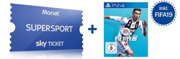 Sky Supersport Ticket(Neukunden) bis Ende November + Fifa 19 (PS4)