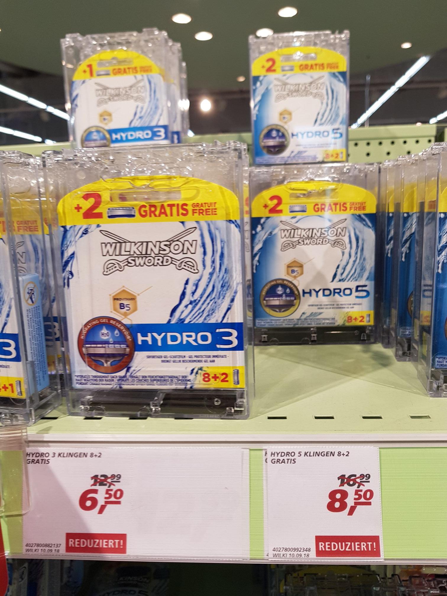 [real Karlsruhe Durlach] div. Wilkinson Hydro Rasierklingen und Rasierer um bis zu 50% reduziert z.B. 10 Klingen für Hydro 5