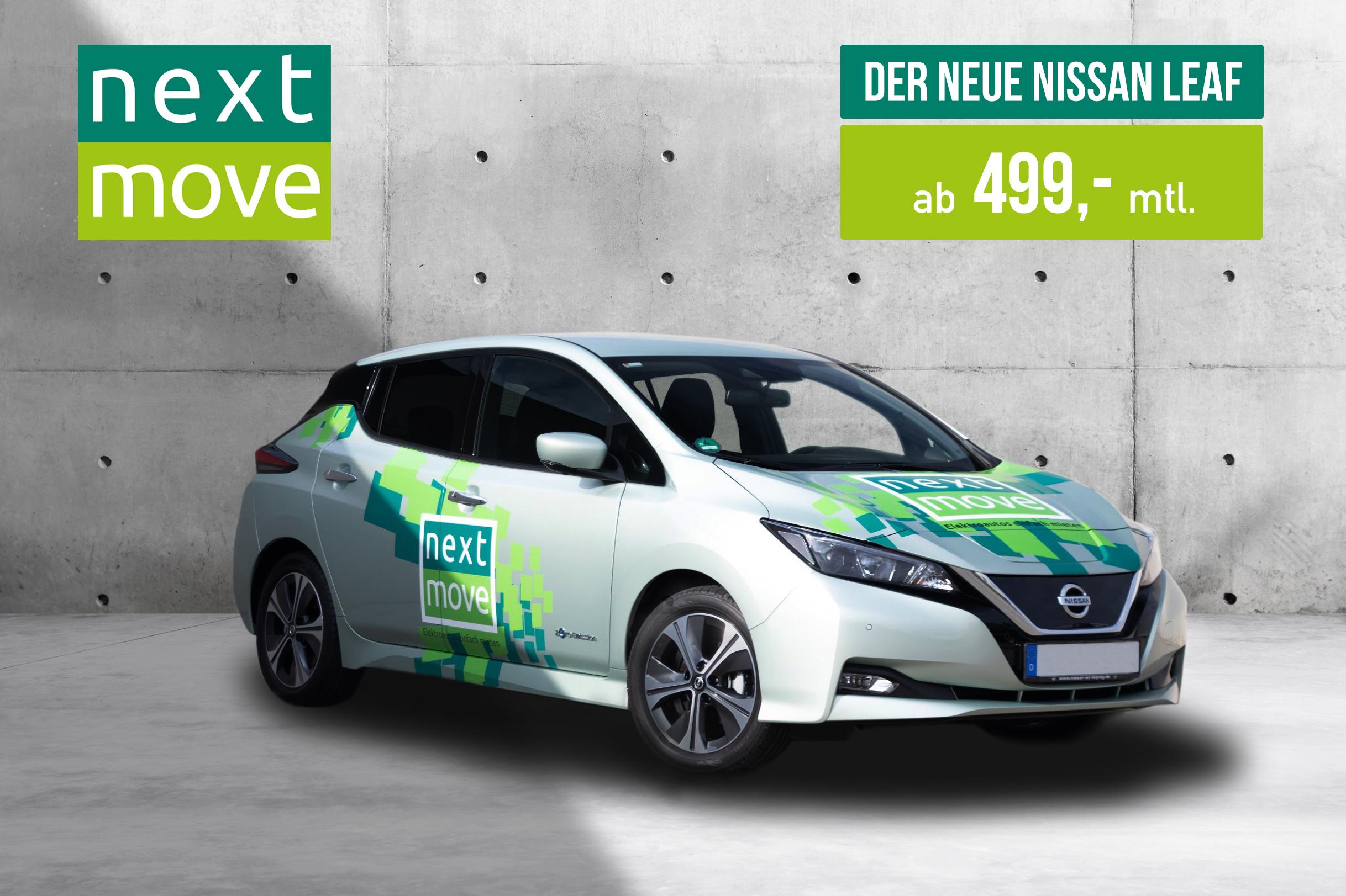 Elektroauto Nissan Leaf für 499 € im Monat mieten