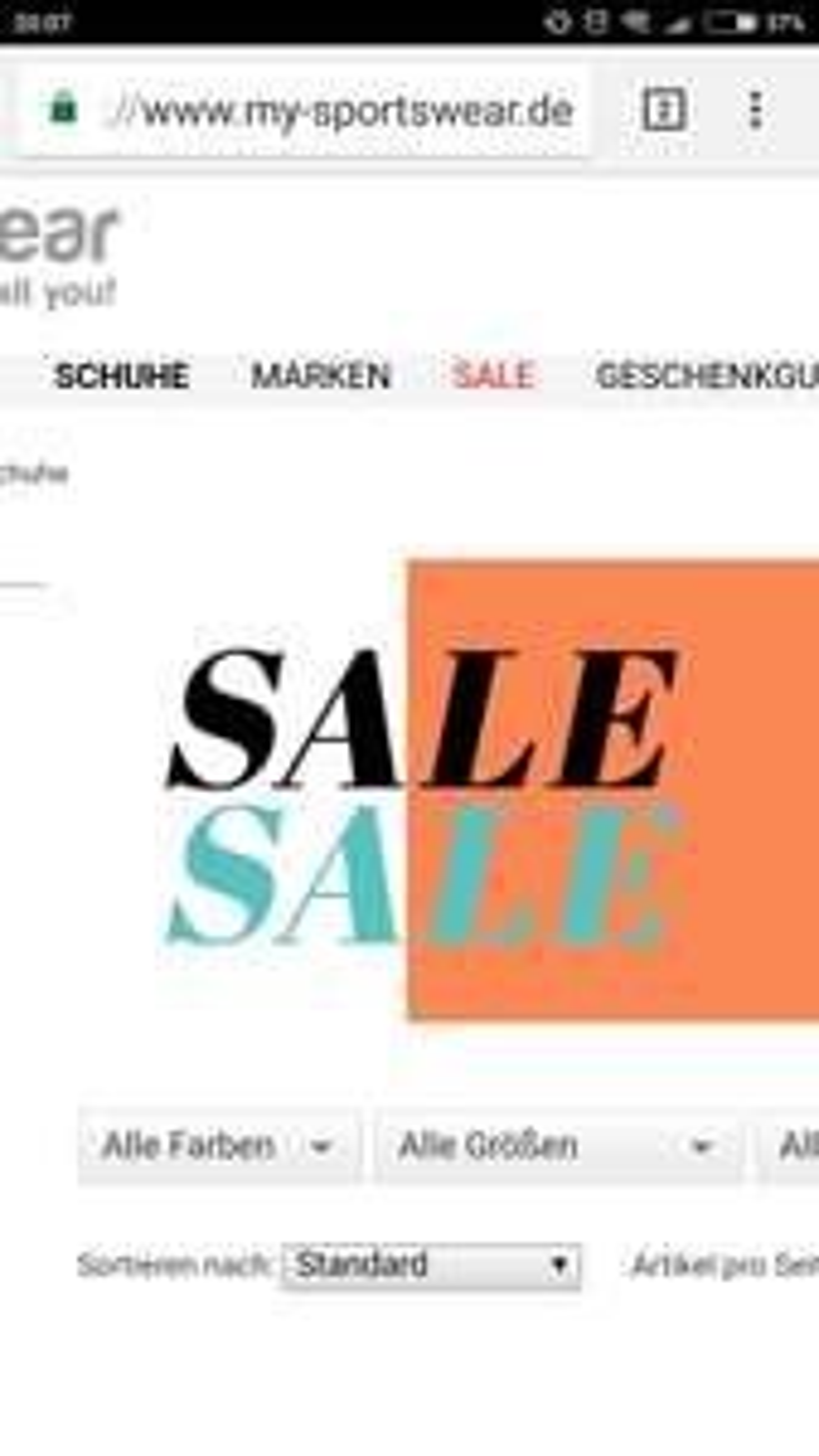 Schuhe 35% Rabatt auf mysportswear.de