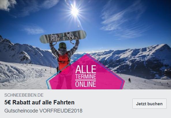 5€ Rabatt auf Tagesfahrten, Wochenendtrips und Skiwochen bei Schneebeben von Lösch-Zwerg