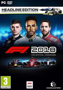 F1 2018 Headline Edition (Steam) für 24,88€ (CDKeys)