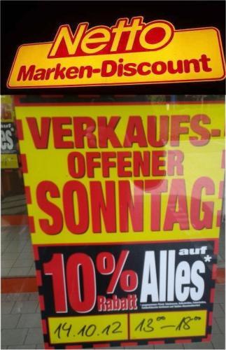 [Netto Bielefeld] 10% Auf alles. Verkaufsoffener Sonntag