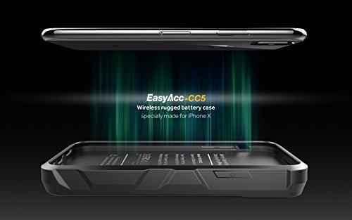 iPhone X Akkuhülle mit kabelloser Powerbank von EasyAcc
