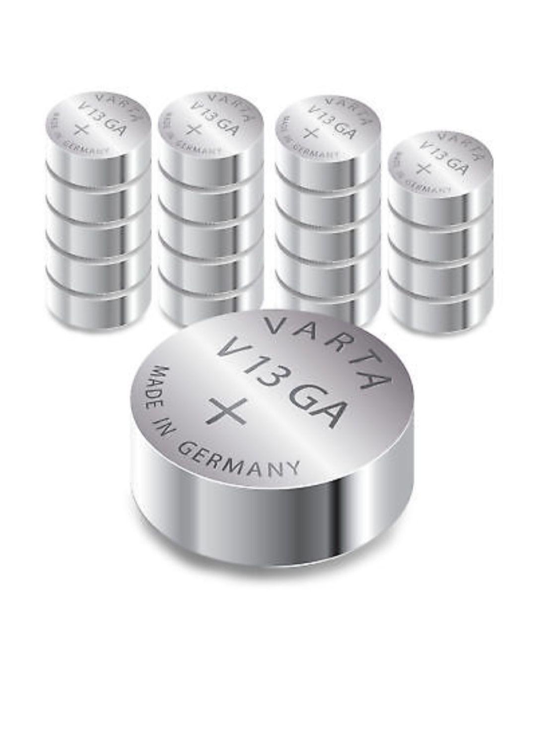 Varta V13GA / AG13 Knopfzelle LR44 | 155mAh 1,5V Alkaline | 20 Stück