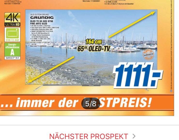 [Expert] Grundig OLED 65 GOS 9798 für 1111 € Lokal und im Online Shop