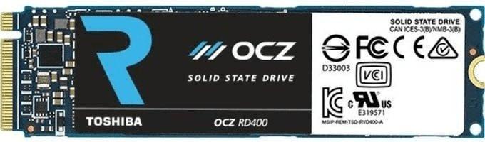 [nbb]  Toshiba OCZ RD400 256GB, M.2 2280 (PCIe 3.0 x4, 2D-NAND MLC, NVME 1.1b, 5 Jahre Garantie) RVD400-M22280-256G