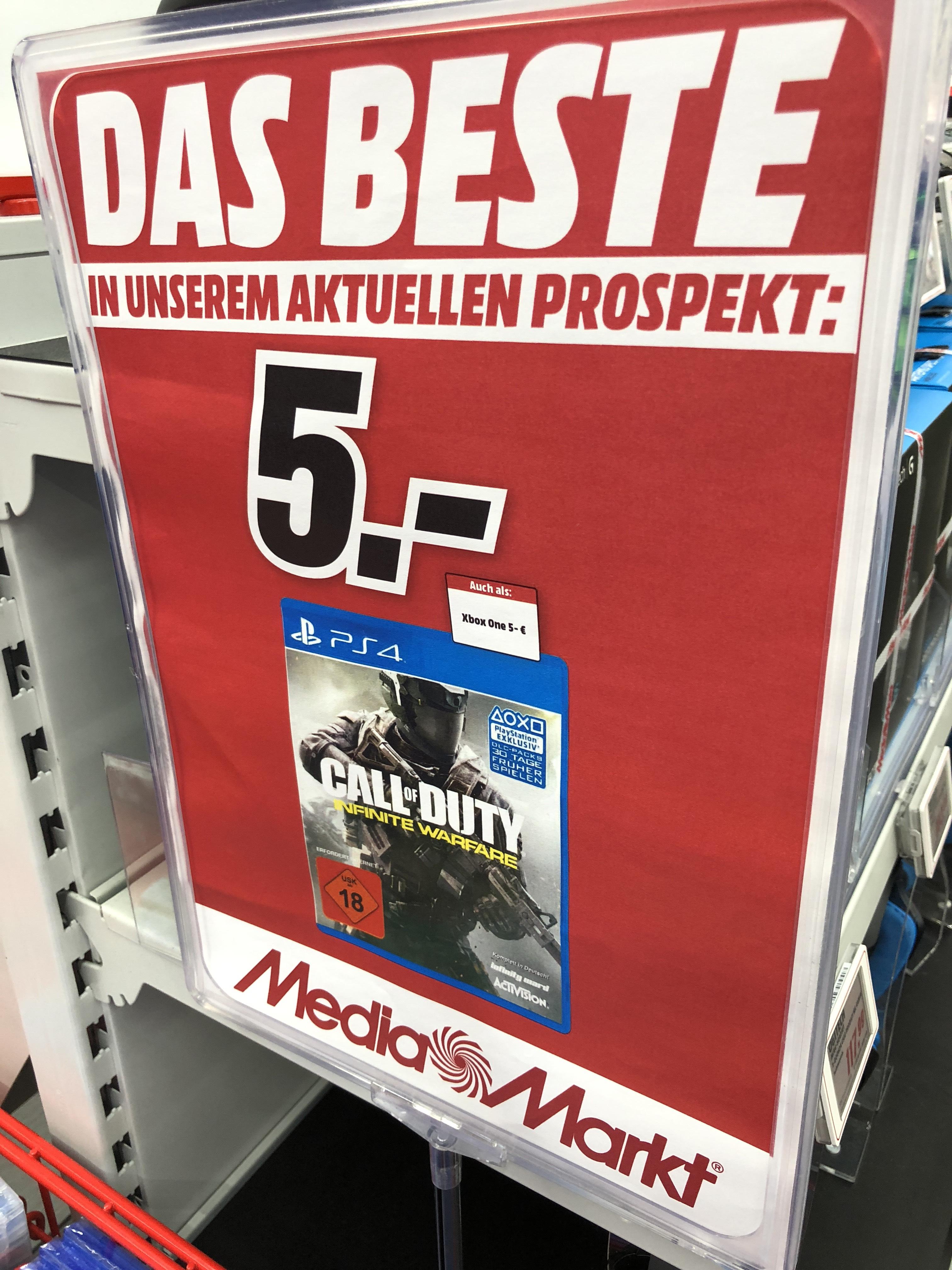 Call of Duty: Infinite Warfare - Standard Edition - [PlayStation 4] [Xbox One] für jeweils 5€ / Media Markt Köln Chorweiler / LOKAL