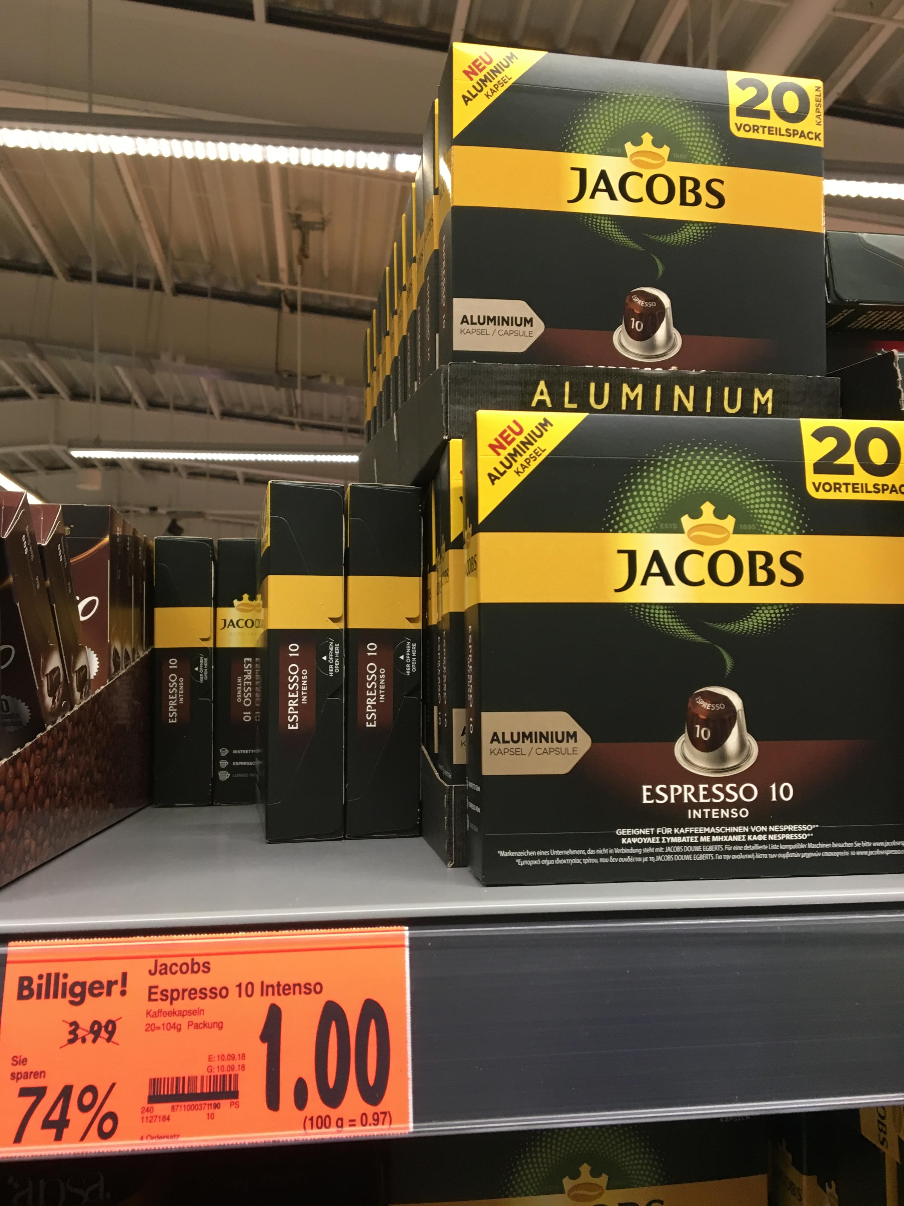LOKAL - Kaufland Schmelz / 66832 - Jacobs Nespresso Kapseln 20 Stück Intenso