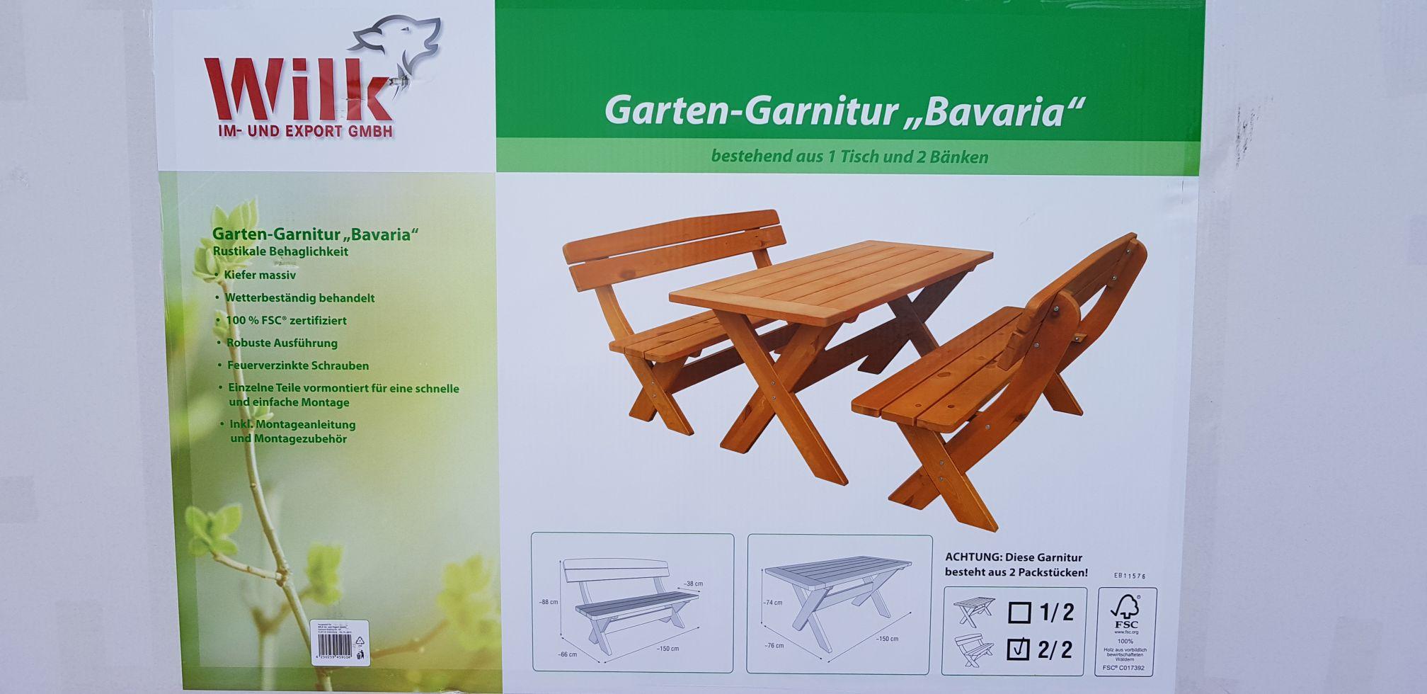 Gartenmöbel-Set Bavaria Kiefer 6-Sitzer 3-teilig braun  Bei Hornbach in Wilhelmshaven