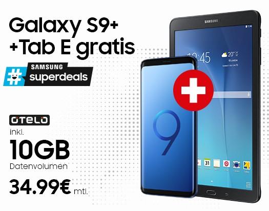 Otelo Allnet-Flat Max (Vodafone Netz) mit 10GB LTE (50 Mbit/s) + Samsung Galaxy S9 Plus 64GB DualSim + Galaxy Tab E