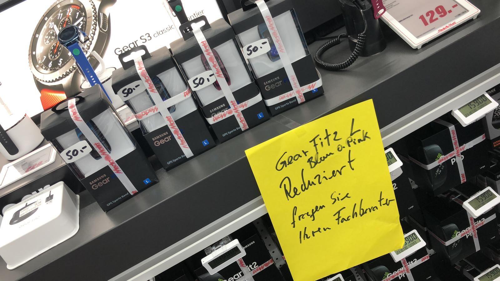 (Media Markt Bielefeld) Samsung Gear Fit 2 in blau oder pink
