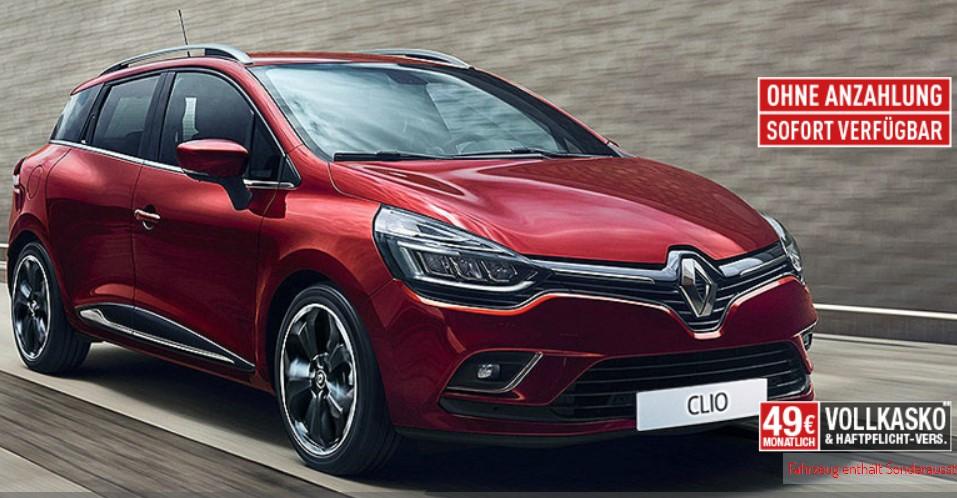 Renault Clio 4 Kombi Business TCe 90 für 89€ im Monat (netto) als Leasingangebot über 48 Monate, 10tkm / Jahr /// LF 0,69 /// Neuwagen für Gewerbe