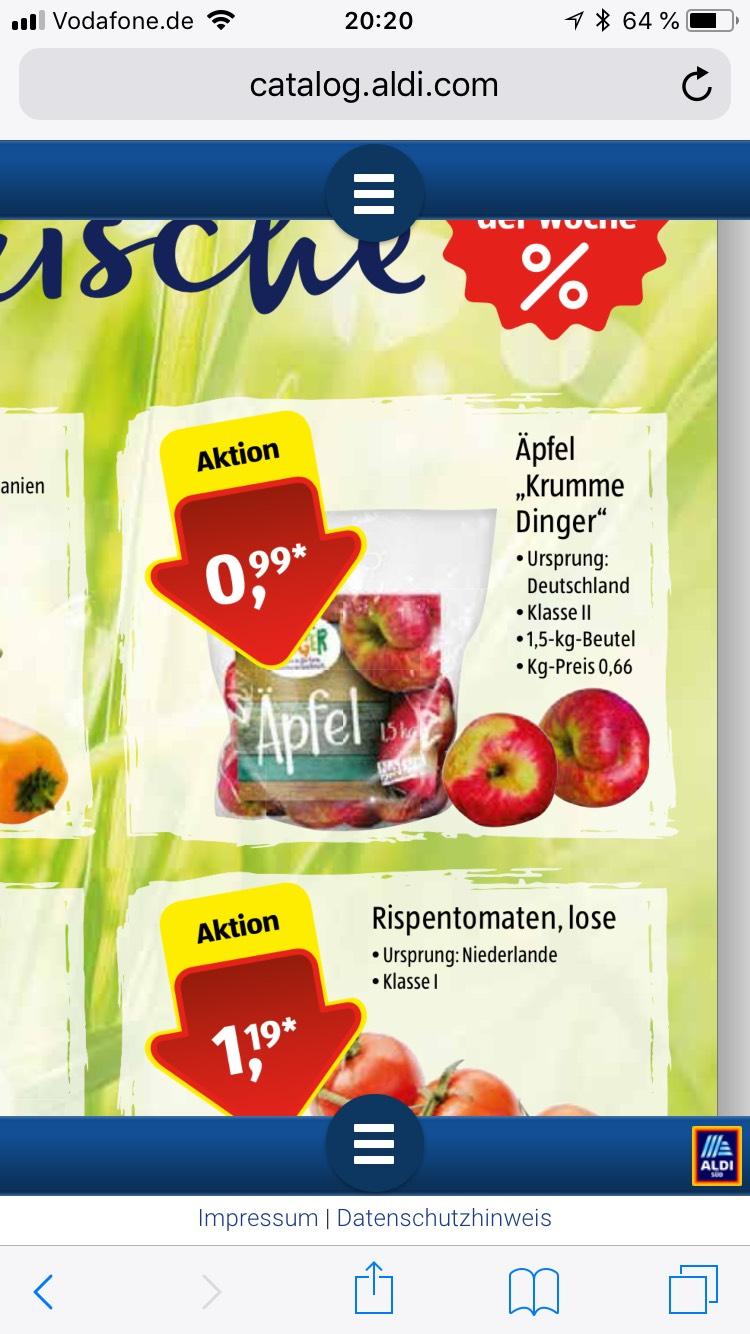 1,5 Kilo Äpfel 99 Cent (Aldi Süd)