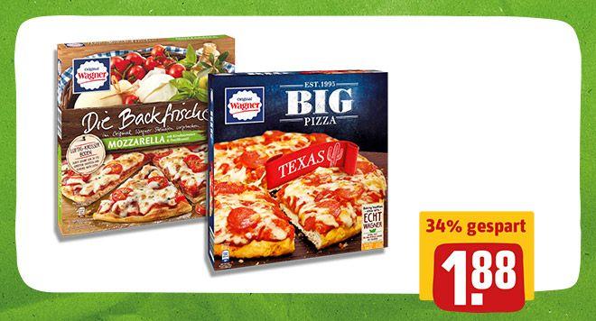 [Rewe] 2x Wagner Big Pizza/Die Backfrische mit 1€ Coupon für 2,76€